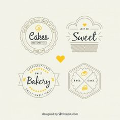 Retro bakery logos pack