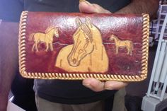 Checkbook Cover / Men / Women / Western / Sheridan / Horse and Flower / Hand Carved and Tooled / Leather / Custom / Cowboy / Cowgirl / Case Leather Tooling, Tooled Leather, Leather And Lace, Calf Leather, Buy Instagram Followers, Checkbook Cover, Cowboy And Cowgirl, Mother Day Gifts, Hand Carved