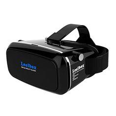 Leelbox Casque de réalité virtuelle 3D VR pour jeux et films compatible avec les iPhone 6S/6 Plus/6/5S/5 C/5, les Samsung Galaxy S5/S6/Note4/note5 S6 et autres smartphones sous Android 4.0 à 6.0