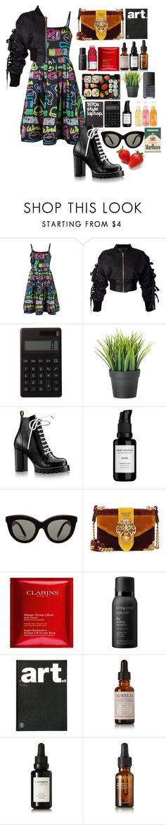 """""""NYFW"""" by themarshmallowmadness ❤ liked on Polyvore featuring Moschino, storets, Retrò, Muji, Root Science, Victoria Beckham, Jura, Prada, NARS Cosmetics and Clarins"""