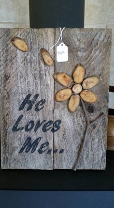 He Loves Me by TheDarlingWarehouse on Etsy Scarecrow Painting, He Loves Me, Rustic Decor, Unique Jewelry, Handmade Gifts, House, Vintage, Etsy, Kid Craft Gifts