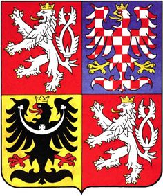 Coat of arms of the Czech Republic. The coat of arms of the Czech Republic displays the three historical regions—the Czech lands—which make up the nation. The current coat of arms, which was adopted in was designed by Czech heraldist Jiří Louda. Prague, Templer, Heart Of Europe, Car Bumper Stickers, Window Stickers, Family Crest, Central Europe, Crests, Coat Of Arms