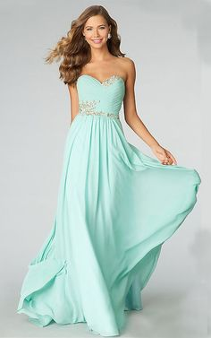 Sweetheart Chiffon Prom Dress  60% sure I want this dress for prom. <3