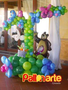 Masha and the bear balloon decoration Masha e Orso
