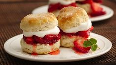 Layered berries and whipped cream with melt-in-your-mouth shortcakes? Here's a recipe to use for serving two.