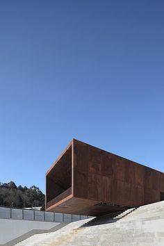 Lamego Multi-Purpose Center, Lamego, 2012 Barbosa & Guimarães Arquitectos Portugal, Brickwork, Facade Architecture, Portuguese, Wonders Of The World, Future House, Landscape Design, The Good Place, Scale
