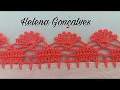 Neuma Nascimento shared a video Crochet Edging Patterns, Crochet Headband Pattern, Crochet Lace Edging, Crochet Borders, Doily Patterns, Crochet Trim, Filet Crochet, Crochet Doilies, Crochet Stitches