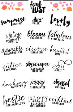 I have an addiction, a serious addiction. I am obsessed with fonts. I of course love free fonts, but as a designer you can only get away with free fonts for so long. The handwritten, scripted fonts ar