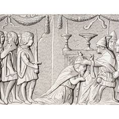 Coronation Of Emperor Sigismond By Pope Eugene Iv In 1433 After A Bas-Relief On Bronze Door Of St Peters Rome From Les Artes Au Moyen Age Published Paris 1873 Canvas Art - Ken Welsh Design Pics (32 x
