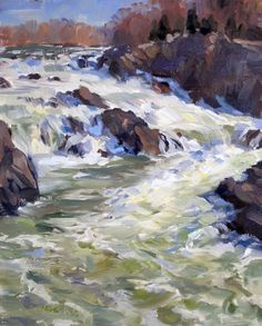 Christine Lashley, Great Falls, oil, 12x9, sold