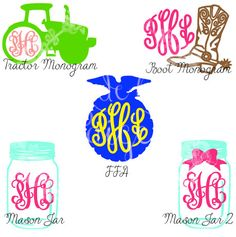 Southern/Country Monogram Decal by MadeByPaigeBoutique on Etsy Cricut Monogram, Monogram Shirts, Monogram Decal, Vinyl Shirts, Yeti Stickers, Decals For Yeti Cups, Silhouette Cameo Projects, Silhouette Design, Horse Silhouette