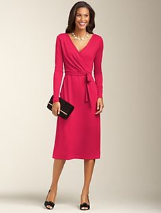 Talbots - Matte Jersey Wrap Dress  - love this style so much - so flattering