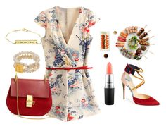 """sushi"" by vico-style ❤ liked on Polyvore featuring MAC Cosmetics, Christian Louboutin and Chloé"