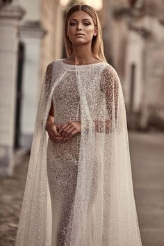 7 Stunning Wedding Dresses For The Unconventional Bride - Bridal Musings wedding dress guest wedding dress Old Fashioned Wedding Dresses, Australian Wedding Dresses, One Day Bridal, Stunning Wedding Dresses, Wedding Gowns, Wedding Dress Cape, Bridal Cape, Unconventional Wedding Dress, Lace Wedding