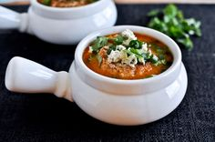 """Buffalo chicken soup.  If there was a recipe for """"buffalo chicken"""" cake, my crew would eat it."""