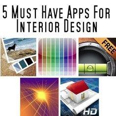 5 Must Have Apps For Interior Design. We would add the Houzz app to the list. What apps for interior design do you use most?
