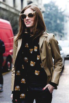 Milan Fashion Week Chiara Ferragni Moschino Teddy