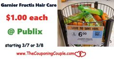 Garnier Fructis Hair Care Products $1.00 Each @ Publix starting 3/7 or 3/8. Print your coupons NOW so you are ready for this great deal on hair products **  Click the link below to get all of the details ► http://www.thecouponingcouple.com/garnier-fructis-hair-care-products-1-00-each-publix/ #Coupons #Couponing #CouponCommunity  Visit us at http://www.thecouponingcouple.com for more great posts!