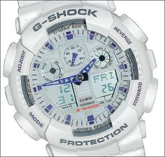 5365d764d6d26 Casio Men s G-Shock X-Large Analog-Digital White and Blue Sports Watch