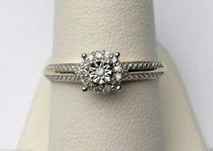 10kt Yellow Gold Halo Cathedral Vintage Diamond Engagement Wedding Promise Ring (0.10ctw)........ #gold #diamond #bridal #engagement #wedding #ring #fashion #jewelry #jewelryring #diamondring #engagementring #fashionring #lovely #Richmondgoldanddiamonds