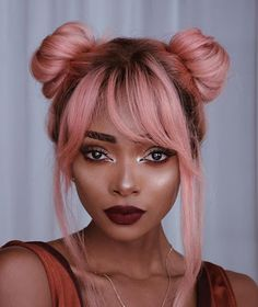 Image result for dark pink hair