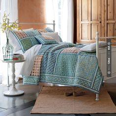 Brilliant - Madeira Handmade Patchwork Quilt | The Company Store | CHECK OUT MORE MASTER BEDROOM IDEAS AT DECOPINS.COM | #masterbedroom #bedroom #bedrooms #homedecor #beds #interiordesign #home #homedecoration #design
