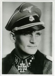 Waffen SS Captain Karl-Heinz Boska was a recipient of the Knight's Cross of the Iron Cross. He served with SS Division Das Reich and SS Regiment Langemack. He survived the war and died at 84 in Germany Ww2, The Third Reich, German Army, Interesting History, Panzer, Military History, World War Two, Wwii, Portraits