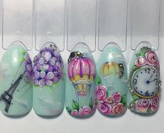 """Flora"" cvetы v mаnikюre vsegdа аktuаlьnы oni lišь nemnogo menяюtsя. Beautiful Nail Designs, Cool Nail Designs, Fabulous Nails, Gorgeous Nails, Spring Nails, Summer Nails, Cute Nails, Pretty Nails, Nail Art Modele"