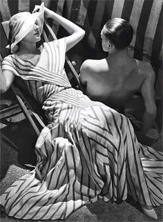 1933, Chanel, beachwear. Photo by George Hoyningen-Huene