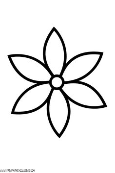 Flower Coloring Pages Simple Fresh Flowers Printable Coloring In Pages for Kids . Flower Coloring Pages Simple Fresh Flowers Printable Coloring In Pages for Kids Number Flower Pattern Drawing, Flower Outline, Crochet Flower Patterns, Beading Patterns, Embroidery Patterns, Simple Flowers, Colorful Flowers, Felt Flowers, Paper Flowers