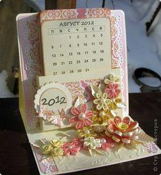 Easel card with calendar neat idea