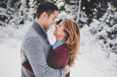 Snowy Mountainside Engagement by Carina Skrobecki - Inspired By This