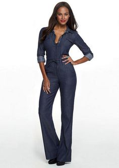 Spoon Denim Jumpsuit - Jumpsuits/Overalls - Clothing - Alloy Apparel