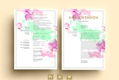 Welcome to EmilyARTboutique! Here you will find a wide range of awesome and creative resume templates that will be a perfect fit for any business field and profession!