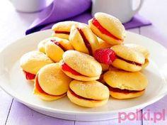 ciastka biszkoptowe z galaretką przepis, przepis na biszkoptowe ciasteczka z galaretką