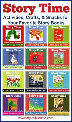 Story Time - Activities, Crafts, & Snacks for  Your Favorite Story Books