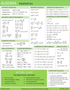 Art Algebra Help Math Sheet teaching-related