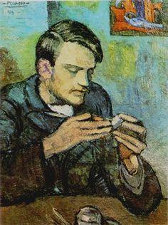 Pablo Picasso - Retrato de Mateu Fernández de Soto, 1901