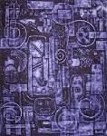 """Collagraph – """"Untitled"""" By Carla Trujillo. Such diversity with a tight color palette. I love collagraphy. Collagraph Printmaking, Printmaking Ideas, Purple Art, Mixed Media Artists, Print Artist, Texture Art, Lilacs, Collage Art, Art Lessons"""