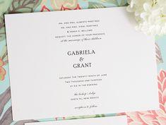 Classic Wedding Invitations - Simple Elegance Wedding Invitations