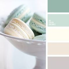 Color Palette Pastel tones of warm creamy colors – this is a quite usual combination, which is associated with tenderness and romance. A gust of fresh breeze is brought. Colour Pallette, Colour Schemes, Color Combinations, Mint Color, Beige Color, Mint Green, Café Branding, Color Balance, Balance Design