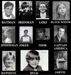 marvel characters actors back then oh my.......Hawkeye......