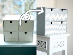 Pimp, Diy Organisation, Ikea Hackers, Design Crafts, Decoupage, Upcycle, Recycling, Dressers, Chester
