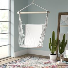 Mistana Anner Tear Drop Swing Chair with Stand Hammock Chair Stand, Hanging Hammock Chair, Swinging Chair, Hanging Rope, Sunbrella Pillows, Home Instead, Memorial Day Sales, Porch Swing, Front Porch