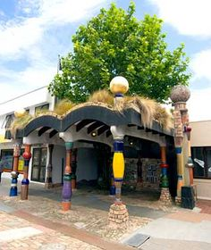 Yes, I did stop at the Hundertwasser Public Toilets, in New Zealand ... really!