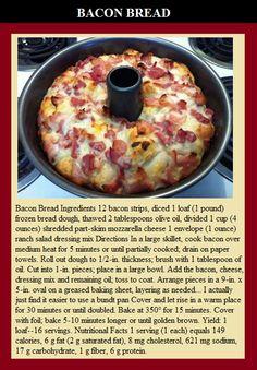 BACON BREAD #bacon #foodporn