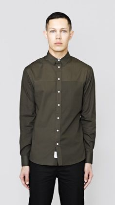 Dark Olive Simple Longsleeve Shirt I Love Ugly, Classic Man, Men Looks, Long Sleeve Shirts, Menswear, Shirt Dress, Dark, Simple, Mens Tops
