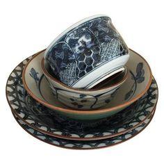 Mixed Ceramic Japanese Bowls - Set of 5 on Chairish.com