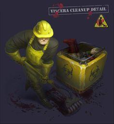 Viscera Cleanup Fanart, Magda Proski on ArtStation at https://www.artstation.com/artwork/NJwyJ