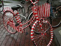 candy cane striped bike